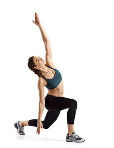Lunge with side bend