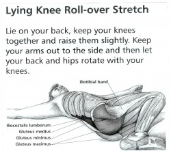 1. Lying Knee Roll Over Stretch